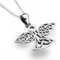 Celtic Angel Silver Pendant